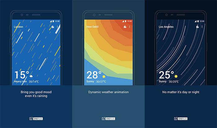 Capturas de OnePlus Weather