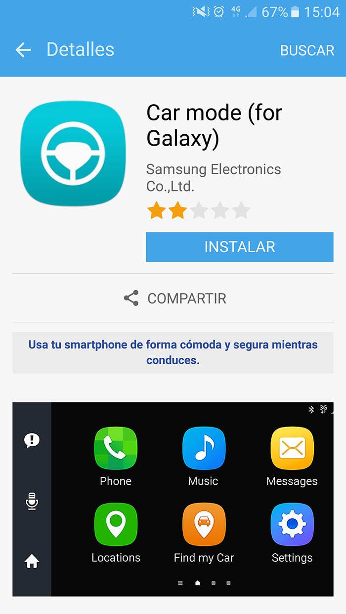 Car Mode Galaxy S7