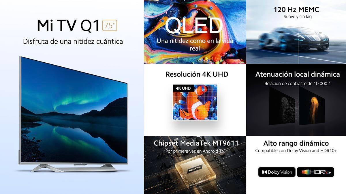 Caracteristicas Xiaomi Mi TV Q1 75