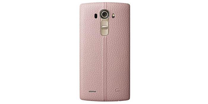 Carcasa cuero rosa LG G4