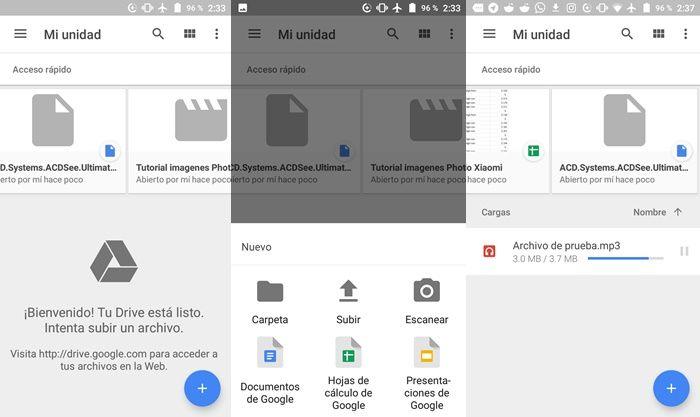 Cargar archivos a Google Drive desde Android