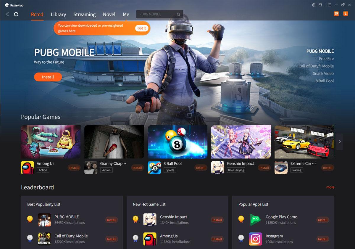 Catálogo de aplicaciones y juegos de Android descargables en Gameloop para tu PC