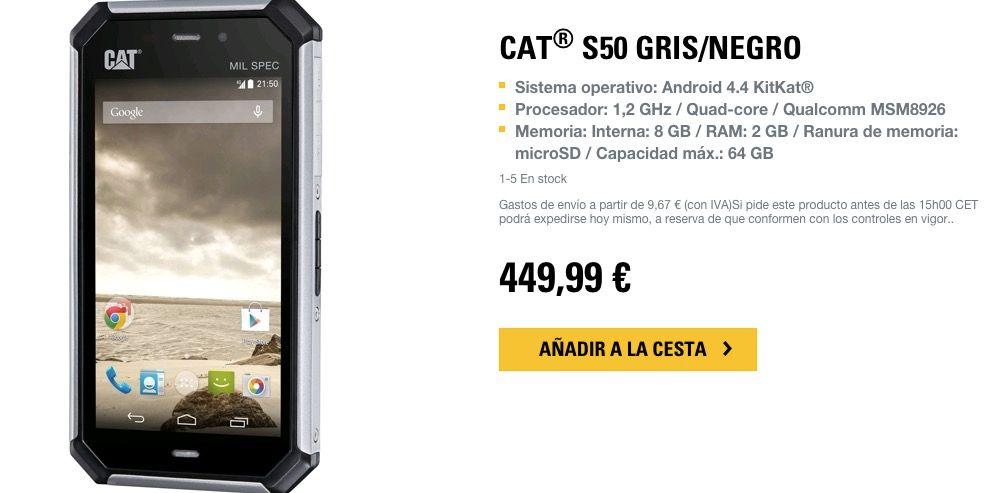 Caterpillar S50 precio