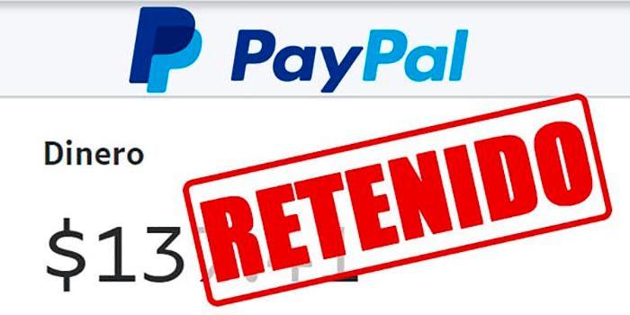 Causas PayPal retencion dinero