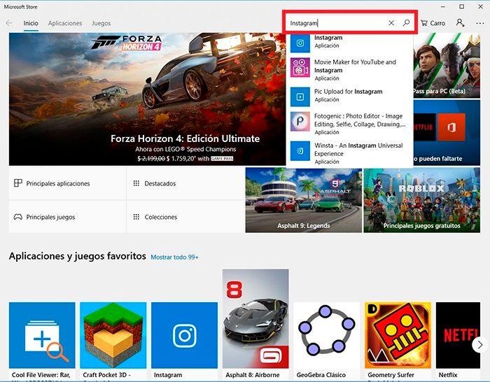 Chatear Instagram desde Windows tutorial 2