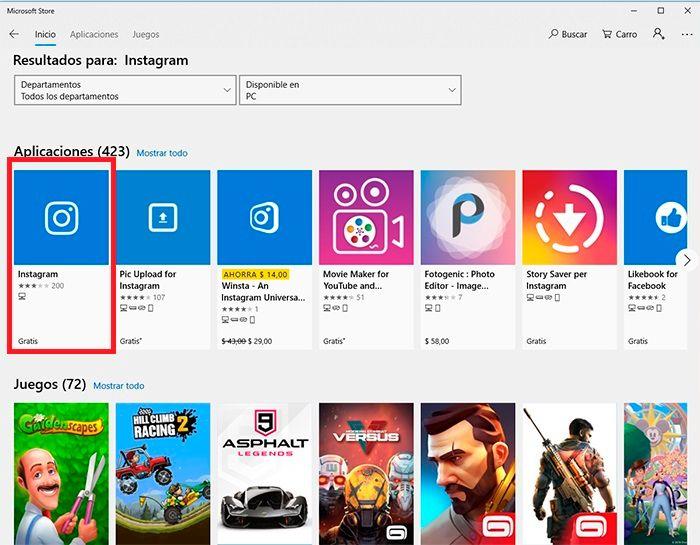 Chatear Instagram desde Windows tutorial 3