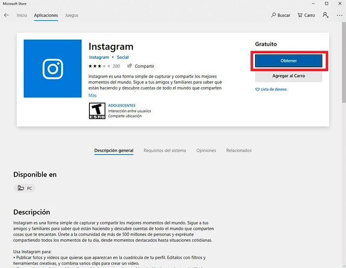 Chatear Instagram desde Windows tutorial 4