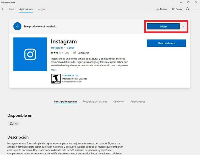 Chatear Instagram desde Windows tutorial 5