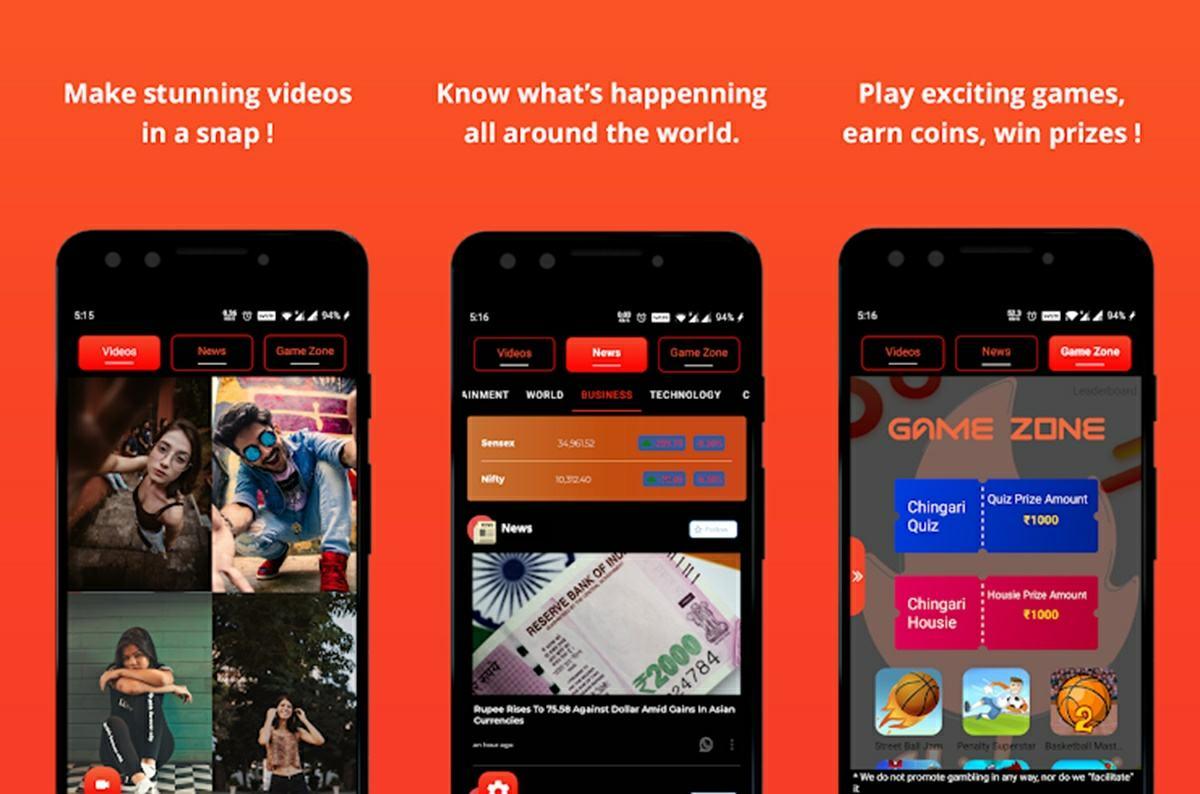 Chingari videos noticias y juegos
