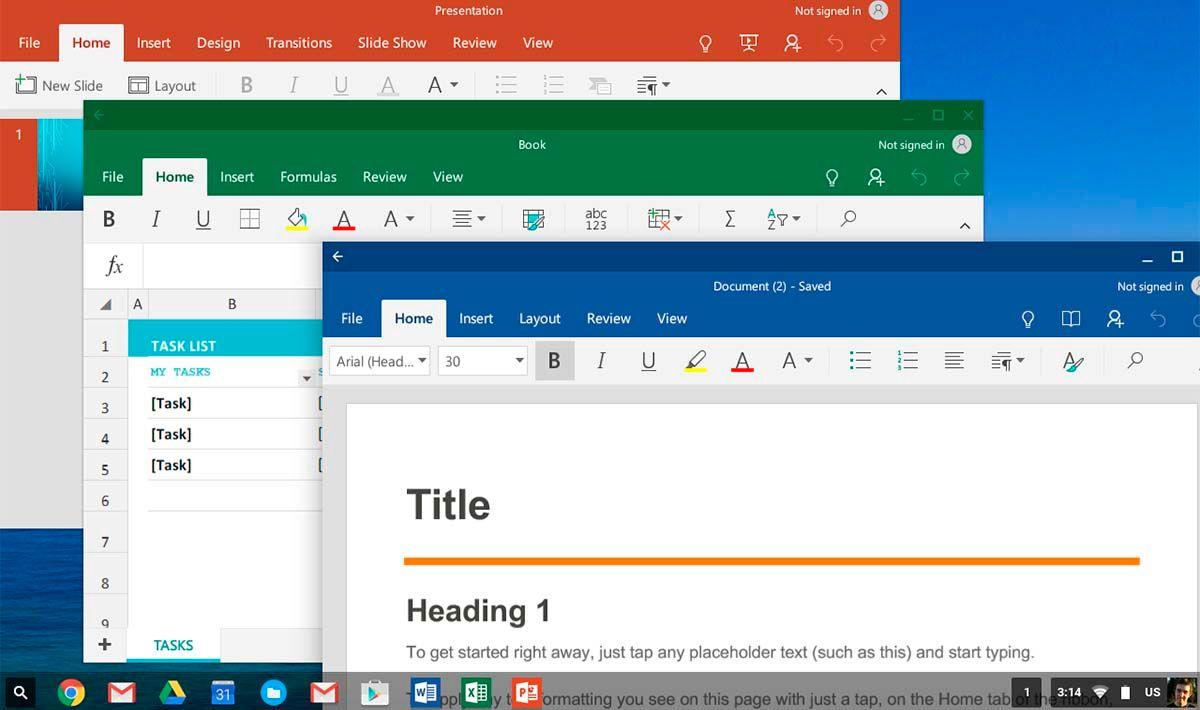 Chrome OS va a dejar de ser compatible con las apps de Office para Android