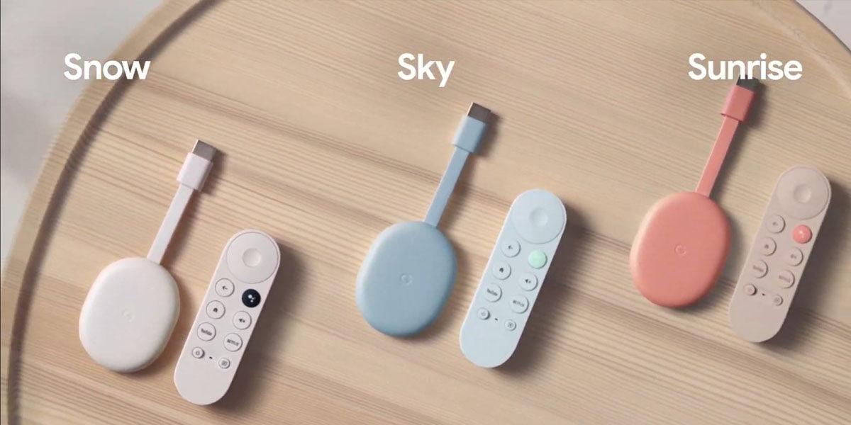 Chromecast con google tv 2020 precio colores