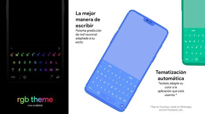 Chrooma teclado muy colorido para Android