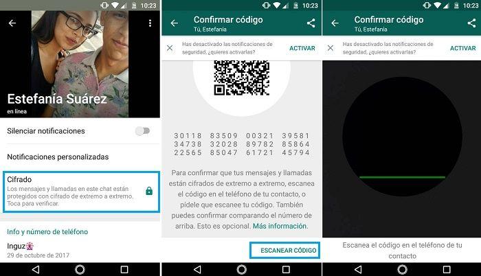 Cifrar los mensajes en WhatsApp
