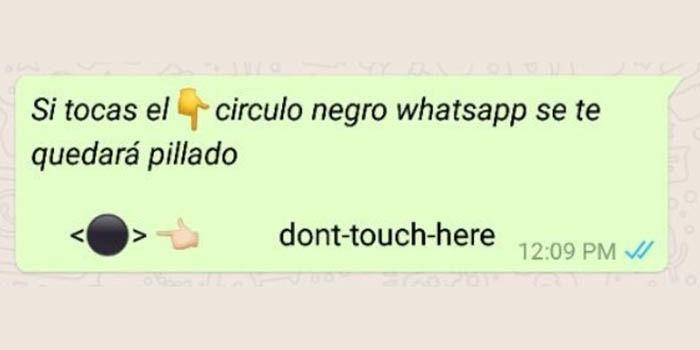Círculo negro de WhatsApp no pulsar