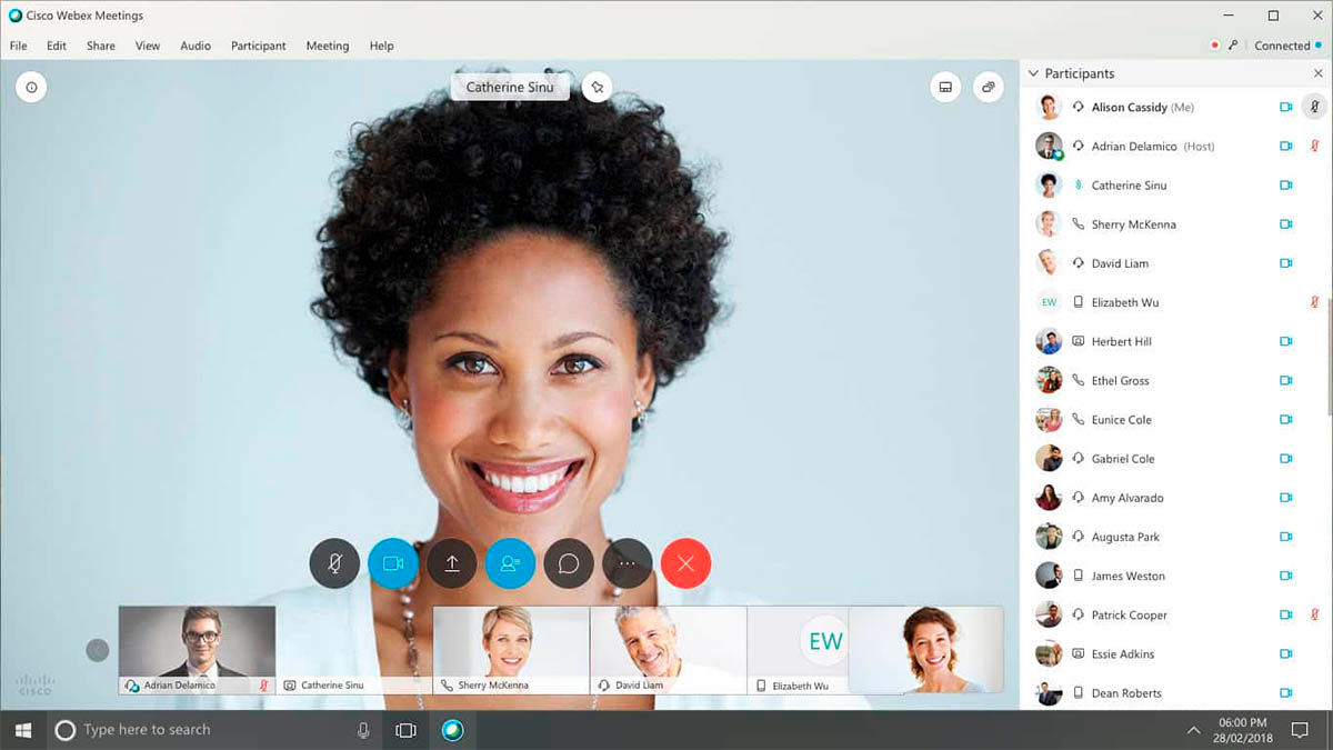 Cisco WebEX Meetings con videollamadas compatibles con teléfonos ip