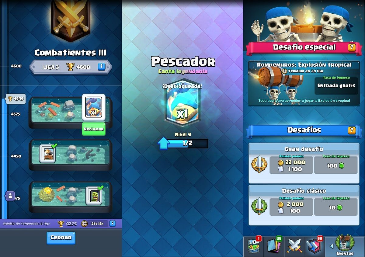 Clash Royale Temporada 2 recompensas y eventos