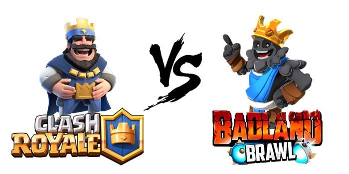 Clash Royale vs badland brawl