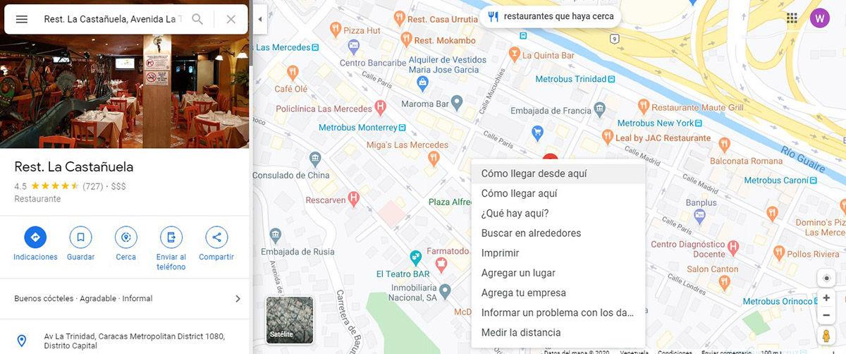 Clic derecho Maps