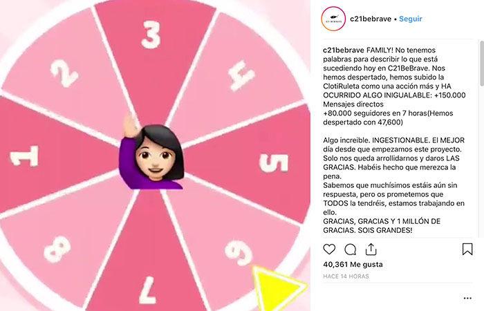 Clotiruleta en Instagram