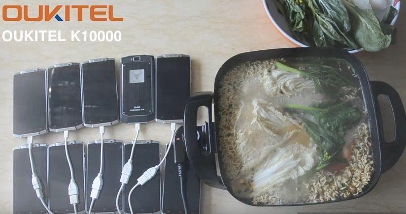 Cocinando con 10 móviles Oukitel K10000
