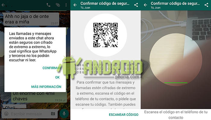 Codigo QR cifrado WhatsApp