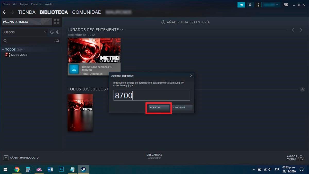 Codigo de Steam Link PC