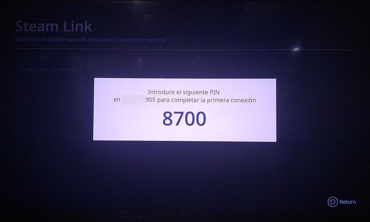 Codigo de conexion Steam Link TV Samsung