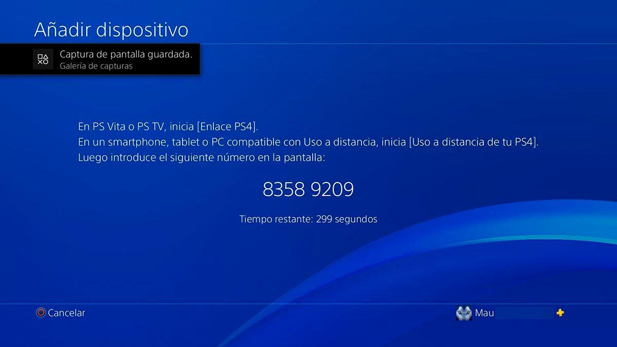 Codigo de vinculacion PS Remote Play PS5