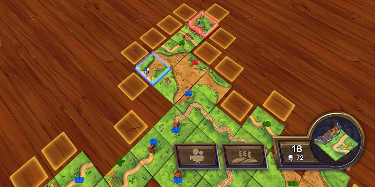 Colocar piezas en el juego Carcassonne para Android