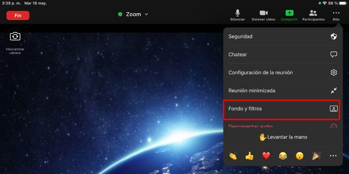 Colocar fondos en Zoom