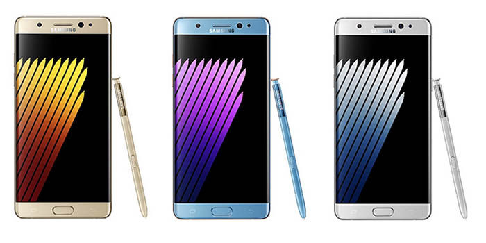 Colores Samsung Galaxy Note 7