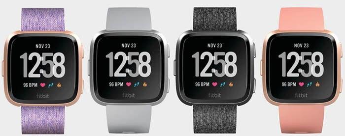 Colores del proximo smartwatch de Fitbit