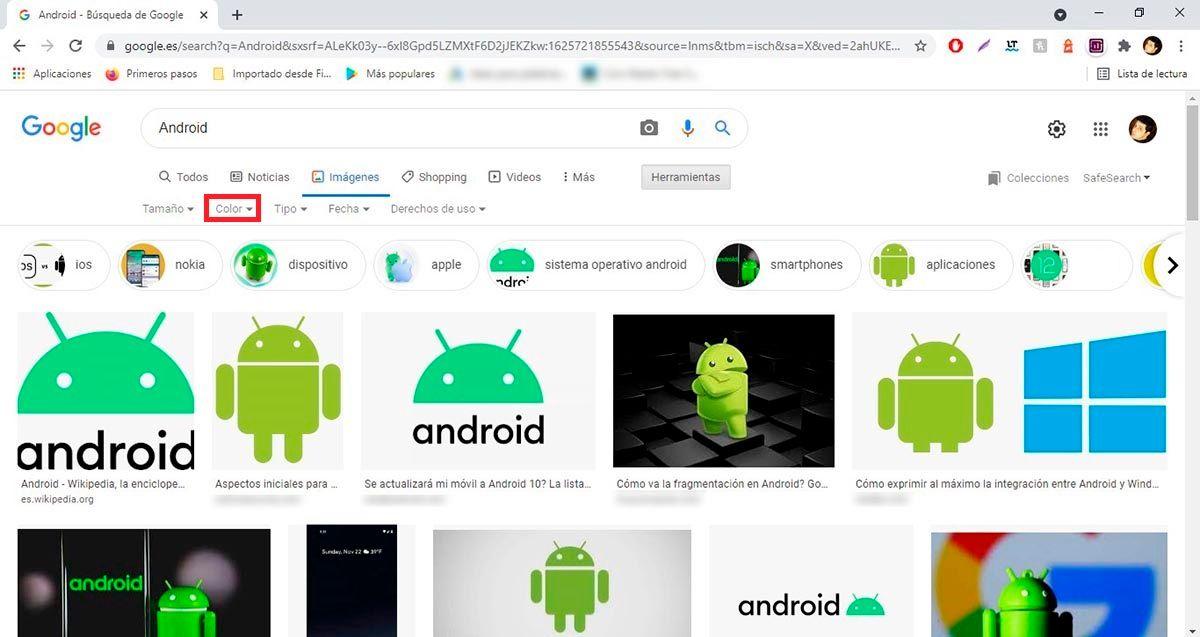 Colores imagenes Google