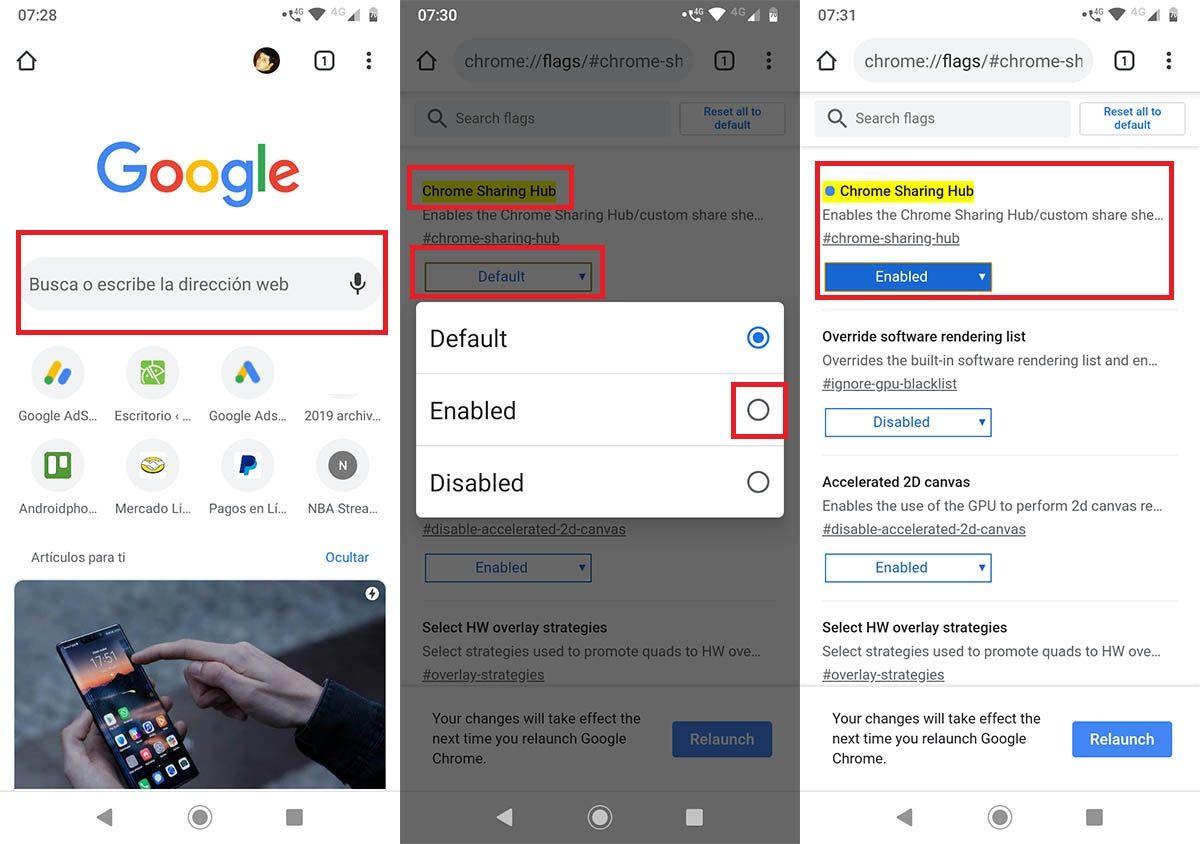 Cómo activar código QR Google Chrome