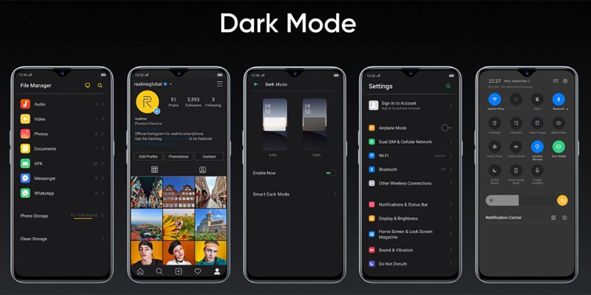 Como activar el modo oscuro en moviles Realme con ColorOS 6