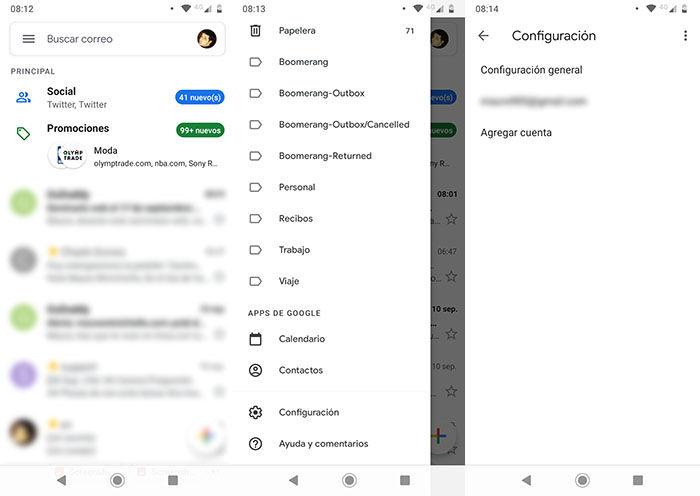 Como activar modo oscuro Gmail