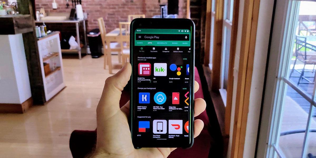 Como activar modo oscuro Google Play Store