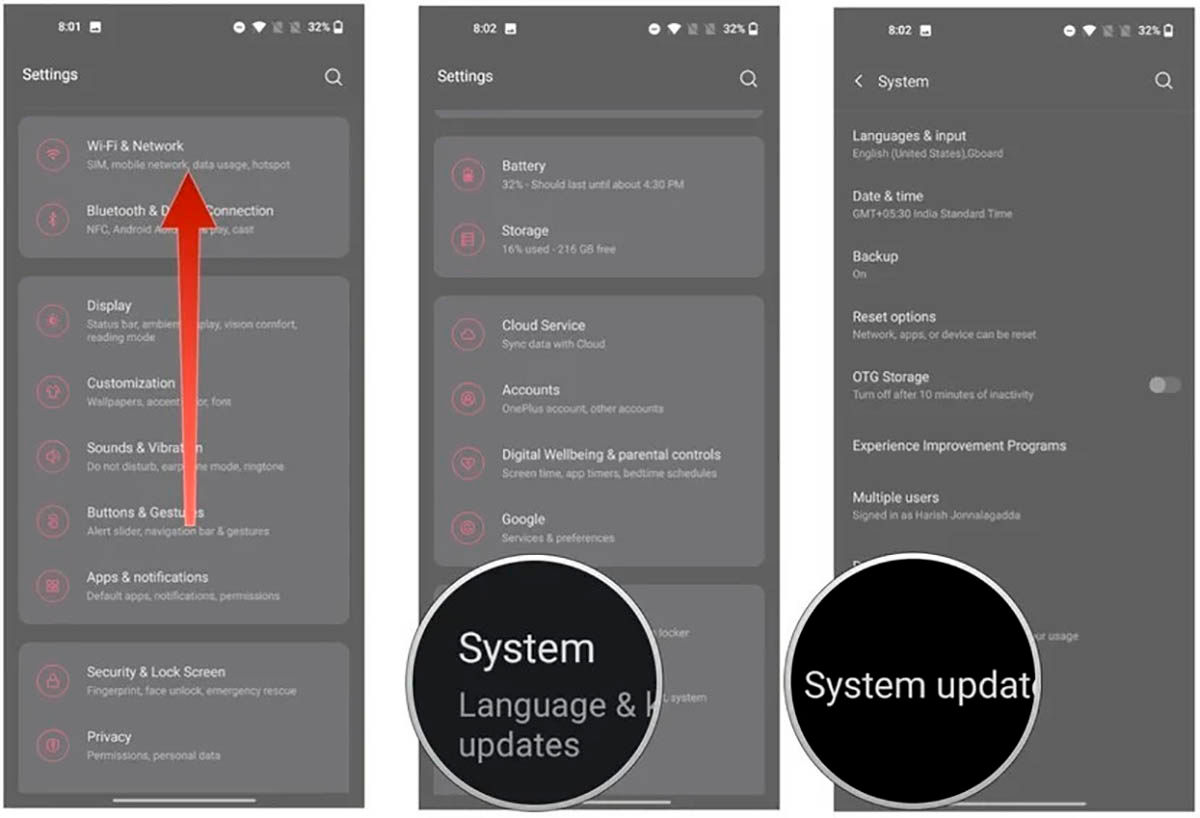 Como actualizar OnePlus a Android 11