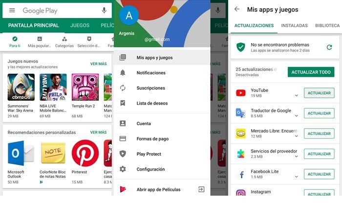 Como actualizar la aplicación de YouTube en Android