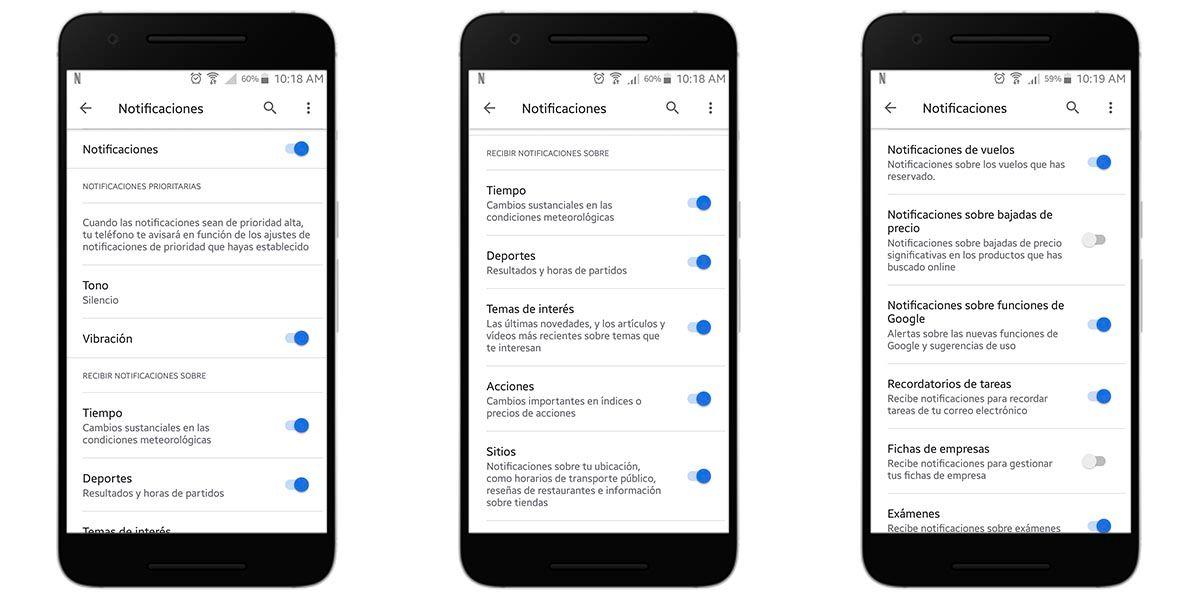 Cómo ajustar las notificaciones de Google Discover