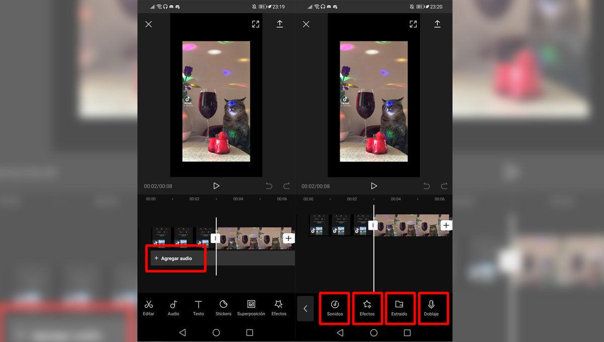 Cómo añadir audio a un edit de vídeo para TikTok con CapCut