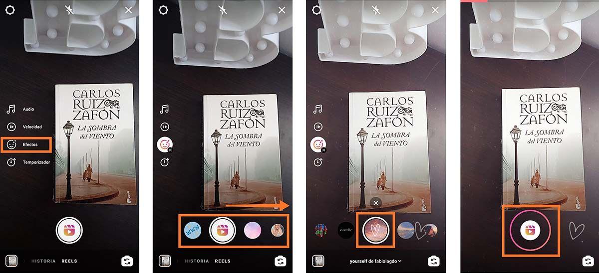 Como añadir efectos en los Reels de Instagram