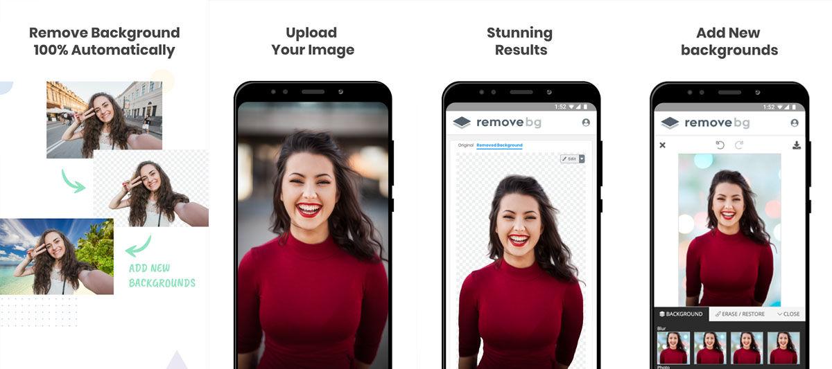 Cómo borrar el fondo de tus fotografías con un editor de imágenes para Android