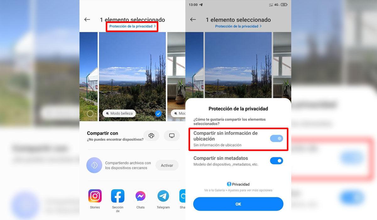 Cómo borrar los datos de ubicación GPS de una foto desde la galería de un Xiaomi