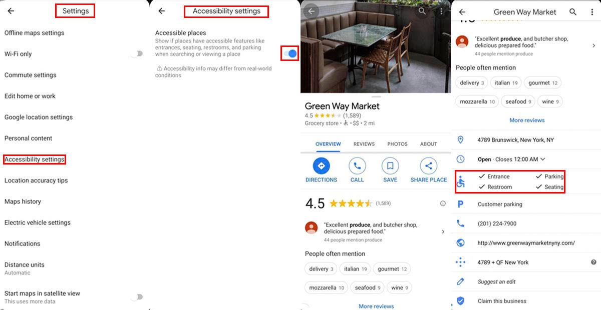 Cómo buscar sitios accesibles con sillas de ruedas Google Maps