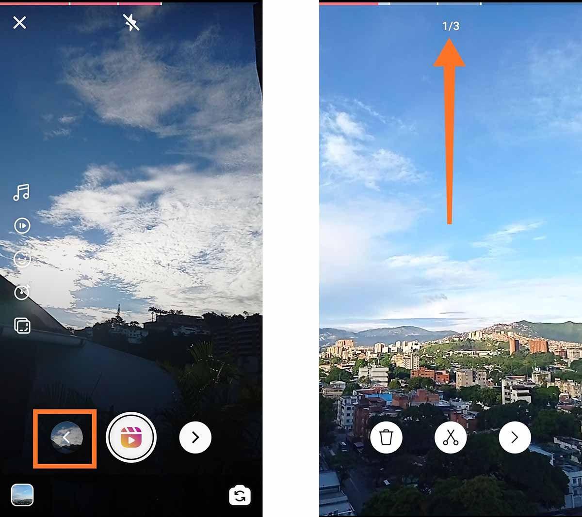 Como cambiar de clip en Instagram Reels
