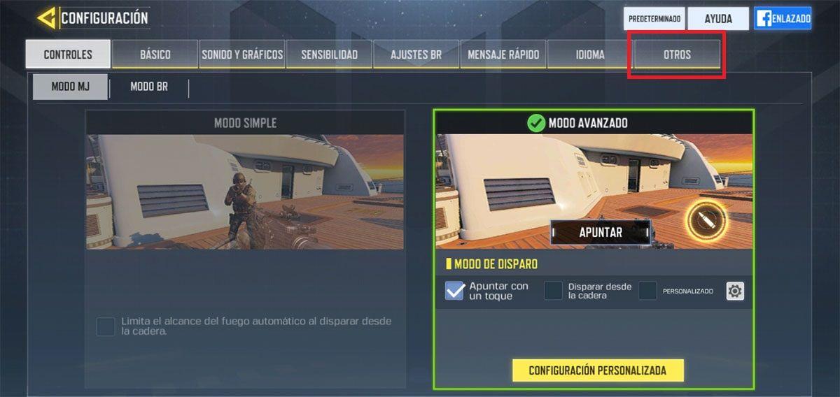 Como cambiar de cuenta Call of Duty Mobile paso 2