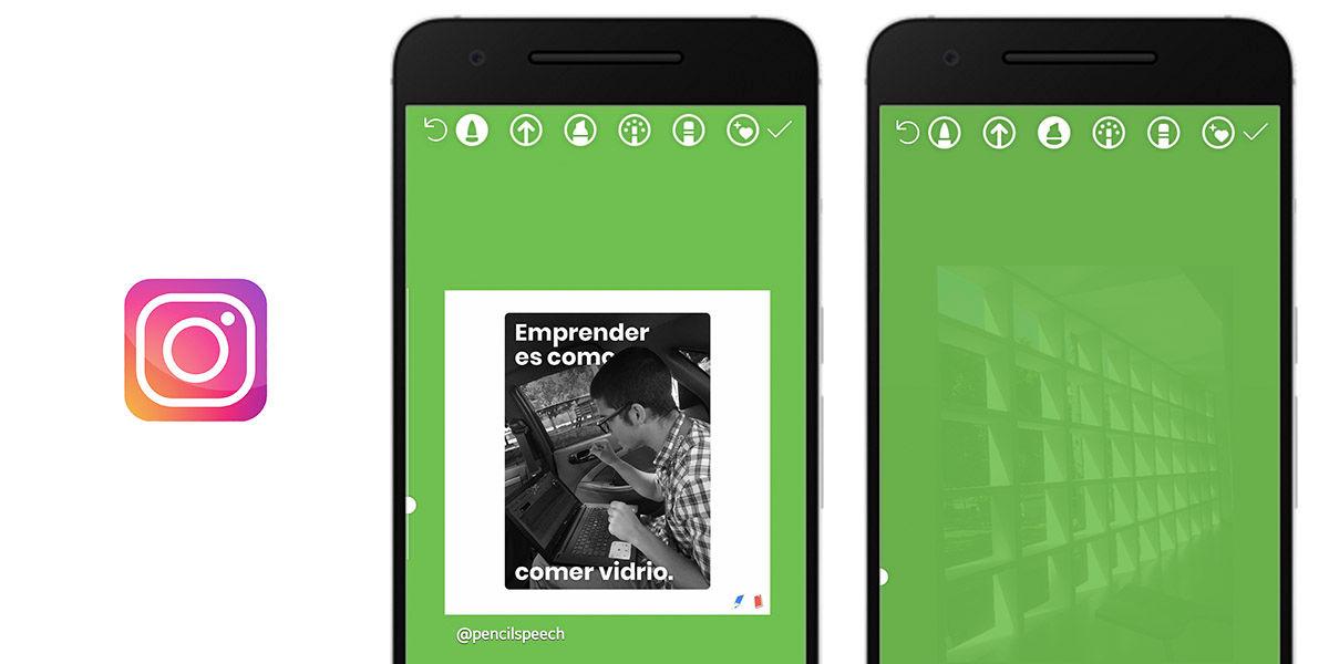 Cómo cambiar el fondo de las Stories al subir publicaciones, fotos o recuerdos en Instagram