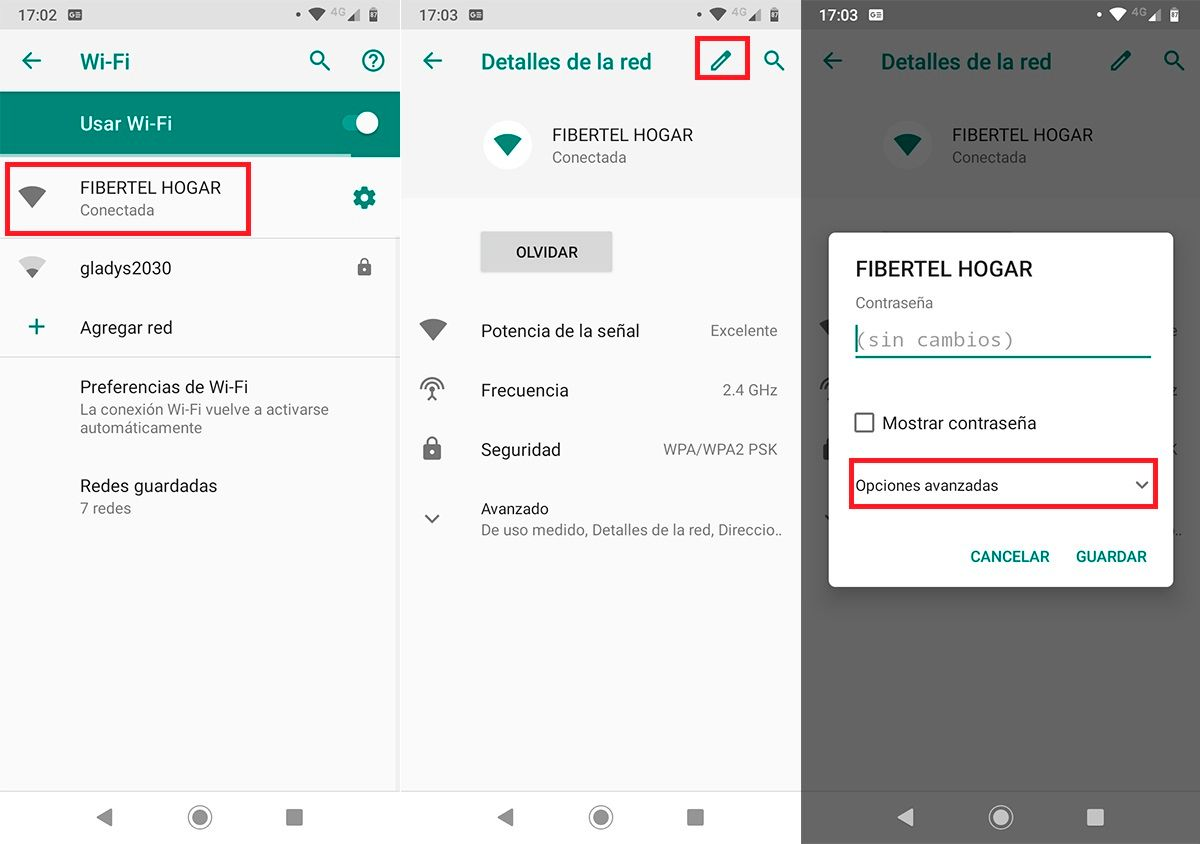 Como cambiar los DNS en Android Paso 2