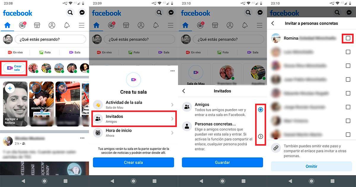Como crear Salas de Messenger en Facebook